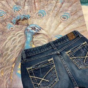 BKE Denim Madison Stretch Bootcut Distressed Jeans